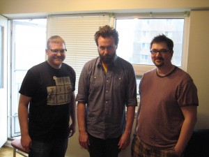 Photo of Brett Madill, Brendon Walsh, and Shaun Stewart